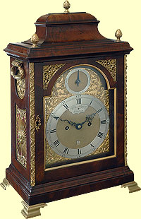 Regency bell toped brass mounted mahogany bracket clock - Wall mounted grandfather clock ...